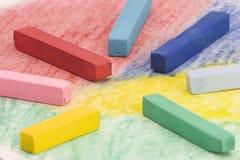 Multi Coloured Chalk sticks Stock Photo
