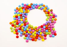 Multi-coloured chocolate candy Royalty Free Stock Images