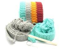 Multi-coloured crochet-werk royalty-vrije stock foto's