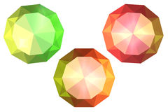 Multi-coloured crystals, diamonds Stock Photo