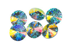 Multi coloured crystals Royalty Free Stock Photography