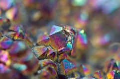 Multi-coloured crystals macro. Abstract background royalty free stock images