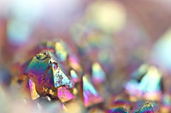 Multi-coloured crystals macro. Abstract background royalty free stock photos