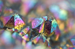 Multi-coloured crystals macro. Abstract background stock photography