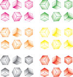 Multi-coloured cube set. Isolated on a white background Stock Image