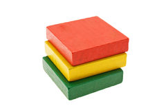 Multi-coloured cubes Royalty Free Stock Image