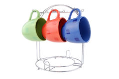 Multi-coloured cups Stock Images