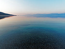 Multi Coloured Dawn Seascape, Greece Royalty Free Stock Photos