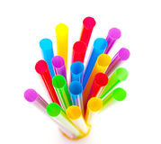 Multi-coloured drinking straws Royalty Free Stock Photos