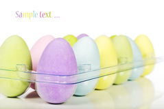Multi coloured easter eggs Royalty Free Stock Image