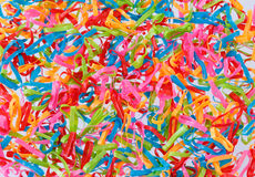 Multi coloured elastic bands background Stock Photography