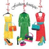 Multi-coloured fashion womens handbag.Big sale Stock Photography