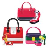 Multi-coloured fashion womens handbag.Big sale Stock Images