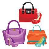 Multi-coloured fashion womens handbag.Big sale Royalty Free Stock Images
