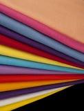 Multi coloured felt fabrics Stock Photography