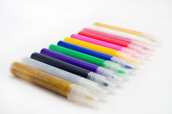 Multi-coloured felt-tip pens Stock Photos