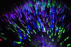 Multi-coloured fiber optics Stock Photo