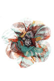 Multi coloured flower brooch Stock Image