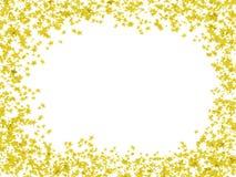Multi-coloured frame in stars. Multi-coloured frame stars in the form of confetti Stock Image