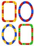 Multi-coloured frames Stock Afbeeldingen