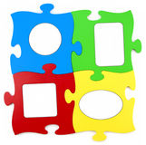 Multi-coloured framework. On a white background Royalty Free Stock Photo