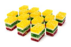 Multi-coloured fruit candy Stock Image