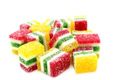 Multi-coloured fruit candy Royalty Free Stock Photo