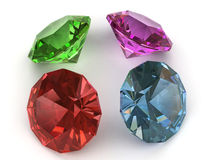 Multi-coloured gemstones Royalty Free Stock Photography