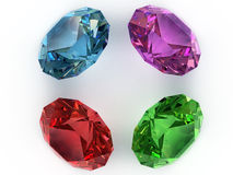 Multi-coloured gemstones Stock Photos