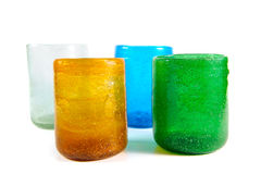 Multi coloured glass cups Royalty Free Stock Image