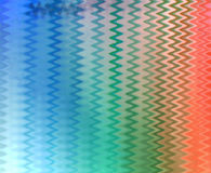 Multi-coloured golvende gestreepte achtergrond stock illustratie