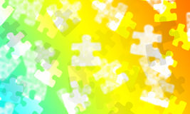 Multi coloured gradient with jigsaw pieces Stock Image