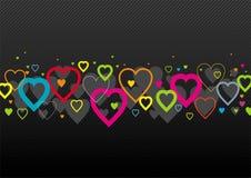 Multi-coloured harten Stock Illustratie