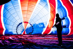 Multi coloured hot air balloon Royalty Free Stock Photo