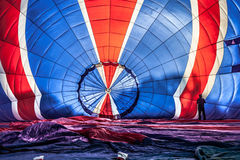 Multi coloured hot air balloon Stock Photo