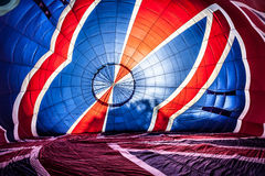 Multi coloured hot air balloon Stock Image