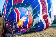 Multi coloured hot air balloon Stock Photos
