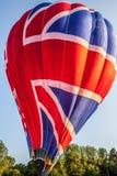 Multi coloured hot air balloon Stock Photo