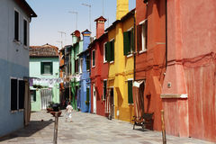Multi-coloured houses Royalty Free Stock Photo