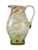 Multi-coloured jug from glass. Royalty Free Stock Images