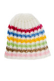 Multi-coloured knitted hat Stock Photos