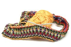 Multi coloured knitting Stock Photography