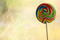 Multi coloured lollypop Stock Images