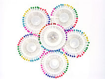 Multi-coloured naalden 5 Royalty-vrije Stock Foto's