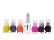 Multi-coloured nail polish1 Stock Photography