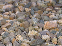 Multi-coloured natural stone gravel Royalty Free Stock Photo