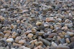 Multi-coloured natural stone gravel Stock Photos