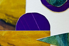 Multi colored collage. A close-up of a multi coloured paper collage Stock Photos