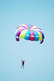 Multi coloured parachute Stock Photos