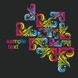 Multi-coloured patterns Royalty Free Stock Photos